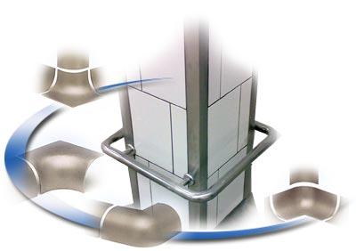 Защита для стен из трубы нержавеющей стали и стальных профилей