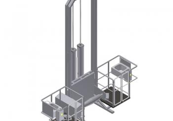 Подвижная площадка для вертикальной транспортировки