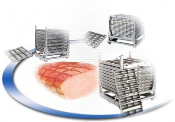 Варочные колонны (парокоптильные установки) для технологической обработки мясопродуктов