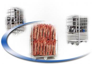 Рамы и тележки для копчения мясопродуктов